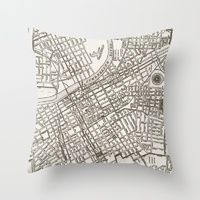 Throw Pillows featuring Nashville Map by Zeke Tucker