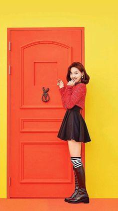 Twice [Knock Knock] - Nayeon Stage Outfits, Kpop Outfits, Twice Knock Knock, Snsd Yuri, Twice Photoshoot, Twice Korean, Nayeon Twice, Merry Happy, Im Nayeon