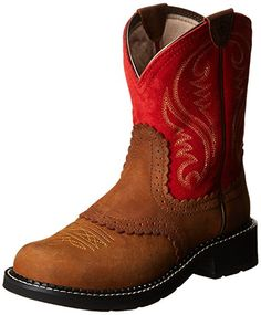 Ariat Women's Fatbaby Heritage Western Cowboy Boot, Tanned Copper/Red, 6.5 M US
