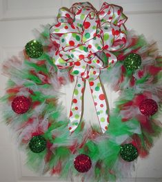 I just love sharing all these recipes and good idea's on Pintrest. Christy Tusing Borgeld.  Tulle wreath
