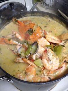 Honduran Coconut Seafood Soup Sopa Catratcha De Mariscos Con Un Recipe - Food.com