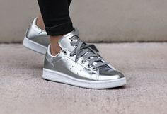 Adidas Stan Smith cuir argent (Metallic Silver) femme