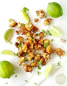 Roasted Cauliflower with Chipotle and Lime...made with clean ingredients and it's vegan, gluten-free, dairy-free and paleo-friendly   The Healthy Family and Home