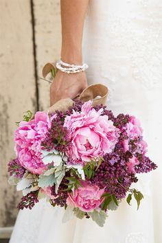 fuschia, pink, purple, plum bouquet