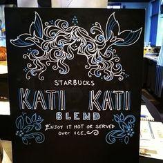 My Chalk art for Kati Kati (my favorite iced!). I am so ready. : starbucks