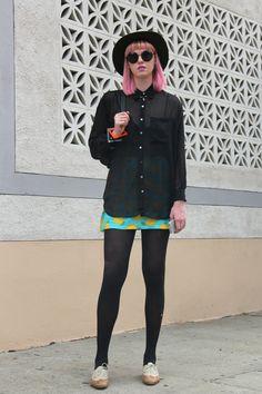Pink hair. FOUREYES - New Zealand Street Style Fashion www.eyeseyeseyeseyes.com