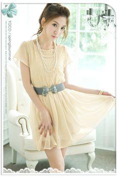 korean dress | korean dress yi1632 apricot [yi1632] $9.30 : Yuki Wholesale Clothing ...