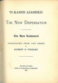 Weekes NT Title, Bible In My Language