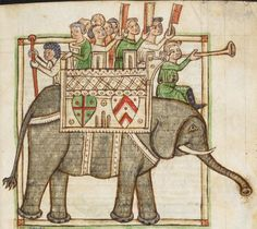 Animal detail from medieval illuminated manuscript, British Library Harley MS 3244, 1236-c 1250, f39r