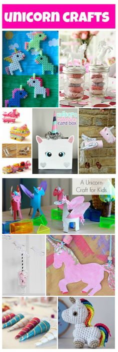 lots of unicorn crafts to do with or for your kids, fun crafts for kids who love unicorns! Rainbow Unicorn Party, Unicorn Birthday Parties, 7th Birthday, Birthday Ideas, Crafts For Teens, Fun Crafts, Preschool Crafts, Unicorn Crafts, Unicorn Diys