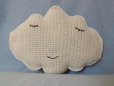 crochet cloud cuddle cushion for nursery or kids bedrooms sleepy cloud is perfect decoration for kids bedrooms or a nursery room. Size: Approx - For more information please contact me Nursery Room, Kids Bedroom, Nursery Decor, Baby Hacks, Cuddle, Attic, Baby Toys, Baby Gifts, Cloud
