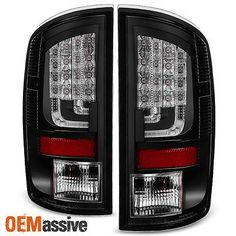 spyder black led tail lights for dodge ram 1500 / ram 3500 version 2 (does  not fit convertible or wagon models)
