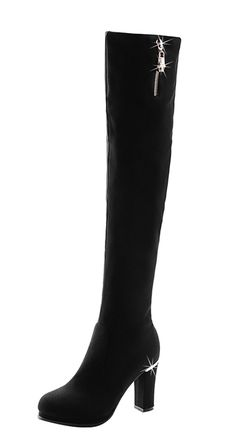4914a5eb9534 Passionow Women s Elastic Cloth Rubber Sole Pull-on Chunky Heel Over the  Knee Winter Long Boots   Check this awesome image   Desert boots
