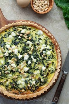 French Chard Tart gourmandeinthekitchen.com paleo glutenfree French Chard Tart (Gluten Free, Grain Free, Vegetarian, Paleo Option) @Sylvie | Gourmande in the Kitchen