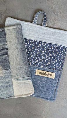 Grytlappar från gamla jeans (develloppa)