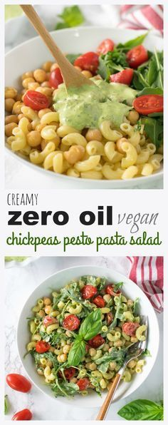 zero oil chickpeas pesto pasta salad Vegan chickpeas pesto pasta salad recipe zero oil chickpeas pesto pasta salad Vegan chickpeas pesto pasta salad recipe is a great option for indoors or outdoor meal. Easy and delicious . Source by mentalforlentils Vegan Lunches, Vegan Foods, Easy Vegan Lunch, Vegan Potluck, Easy Vegan Food, Easy Vegan Meals, Vegan Picnic, Healthy Picnic, Healthy Pesto