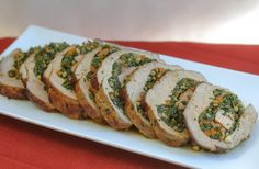 Tender stuffed veal is a sumptuous treat any time but this version makes that to another level of elegance and this result is worthy of any celebration.