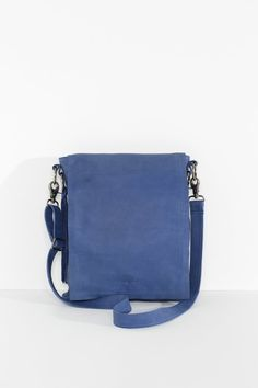 A slimline cross body satchel with delightful tassel details and long front flap for extra security. Cross Body Satchel, Marine Blue, Saddle Bags, Cool Designs, Detail, Mick Jagger, Leather, Tassel, Clothing