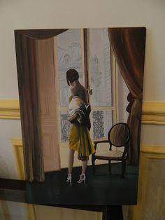peinture sur bois, la parisienne