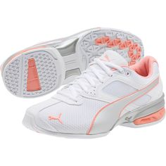 size 40 20f64 2a279 Image 2 of Tazon 6 Metallic Women s Running Shoes, White-Silver-Fluo Peach
