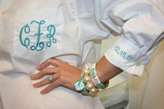 Share on facebook Share on twitter Share on email Share on print More Sharing Services Fornash Monogram Grecian Bangle Set Aqua & White