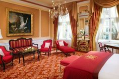 Hotel Imperial, a Luxury Collection Hotel, Vienna - Imperial Junior Suite Top Hotels, Best Hotels, Hotel Imperial, Vienna Hotel, Luxury Collection Hotels, Hotel Room Design, Fine Hotels, Grand Hotel, Ideal Home