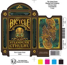 Steampunk Cthulhu Bicycle® Playing Cards by Nat Iwata — Kickstarter