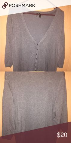 Maurice's gray cardigan 2X Maurice's gray cardigan great wardrobe staple piece to add size 2X.  This can be casual or dressy--goes with everything! Maurices Sweaters Cardigans