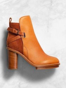 Comfortable brandy coloured boots from ACNE.