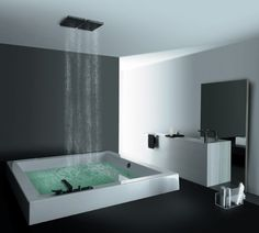 modern shower/bath