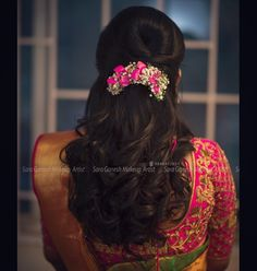 Wedding Hairstyles Throughout History – Model Hairstyles Bridal Hairstyle Indian Wedding, Bridal Hair Buns, Bridal Hairdo, Indian Wedding Hairstyles, Short Wedding Hair, Saree Hairstyles, Open Hairstyles, Bride Hairstyles, Hairdos