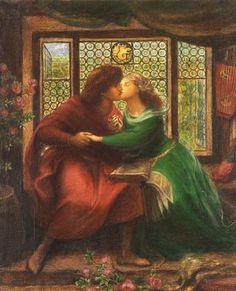 Paolo and Francesca da Rimini - Dante Gabriel Rossetti.