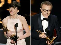 Hathaway, Waltz take best supporting honors. Oscars 2013