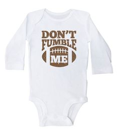 e9de6329c Football Onesie, Don't Fumble Me, Funny Football Baby Onesie, Newborn  Football Clothing, Gray or Whi