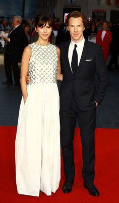 Sophie Hunter in Christian Dior Couture & Benedict Cumberbatch in Dior Homme #LondonFilmFestival #LFF