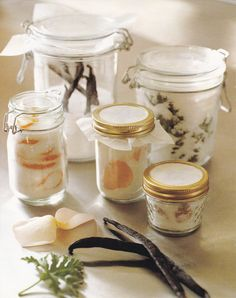 Infuse sugar with various flavors