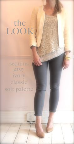 the look, neutral, sequins, sparkle, cute outfit, spring, fidelity denim, ivory jacket, style, blushshop,