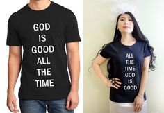 God is good Couple Graphic Print Men and Women by MydaGreat