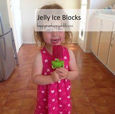 Jelly Ice Blocks by Happy Mum Happy Child Ice Blocks, Better Together, Happy Kids, Jelly, Children, Centre, Food Ideas, Recipes, Snacks