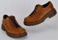 Dr Martens UK 6 Brown Leather Oxfords US Women's Size 8 Men's 7 #DrMartens #CasualShoes