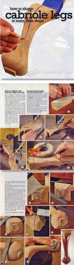 Shaping Cabriole Legs - Furniture Leg Construction | WoodArchivist.com