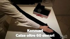 How to fold thights over 60 den. Konmari Way #konmari #folding #clothes