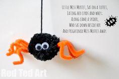 Spider Craft: Pom Pom Spider