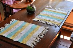 Handwoven Placemats  M103 M104 by SunroomStudio on Etsy, $8.00