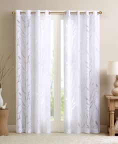 Shop for Madison Park Vina Sheer Bird Single Curtain Panel. Get free delivery On EVERYTHING* Overstock - Your Online Home Decor Outlet Store! Get in rewards with Club O! Bird Curtains, No Sew Curtains, White Curtains, Grommet Curtains, Window Curtains, Target Curtains, Ikea Curtains, Sheer Valances, Roman Curtains