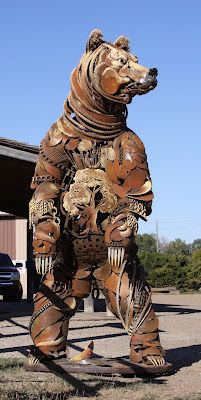 Dang! Incredible metal sculptures by John Lopez