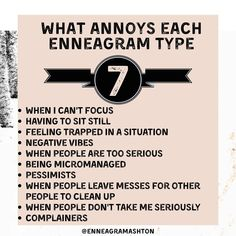 Type 7 Enneagram, Blood Type Personality, Feeling Trapped, Type I, Entp, Marriage Relationship, W 6, Annoyed, Self