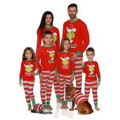 b044e466d3 Dr. Seuss Holiday Grinch Pajamas Cotton - Family Christmas Pajamas Set