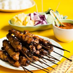 Chicken or Beef Satay with Homemade Peanut Sauce! Poh says: This dish is not a complex one to make but like many Malaysian dishes it's all in the correct ratios of those beautiful aromatics, exotic rhizomes and spices. In the streets of Malaysia, sataysare cooked over smoldering embers which are continuously fanned to infuse the meat with a gorgeous smokiness, but at home, barbequing or grilling in the oven will work a treat.