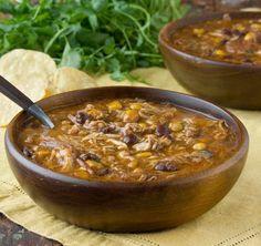 Recipe: Slow Cooker Chicken Enchilada Soup — Dinner Recipes from The Kitchn Slow Cooker Recipes, Crockpot Recipes, Soup Recipes, Dinner Recipes, Cooking Recipes, Fall Recipes, Dinner Ideas, Crowd Recipes, Healthy Recipes